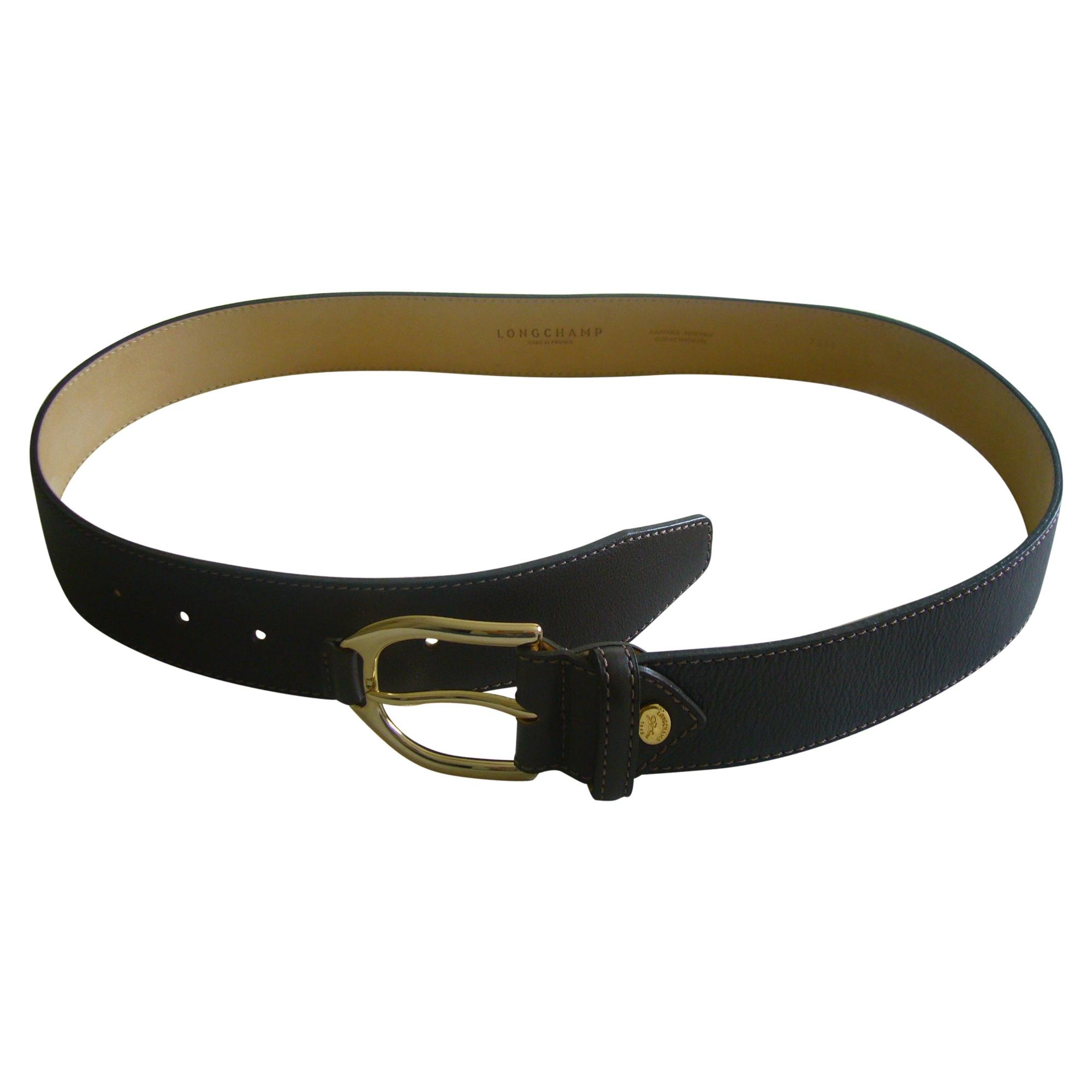 Meilleur Outlet connu Noir Noir-Vachetta Tan-Blanche ceinture cuir femme  longchamp - skoul.fr. b1709004810